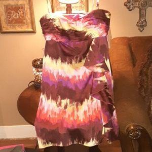 Nwt multi  color midi dress